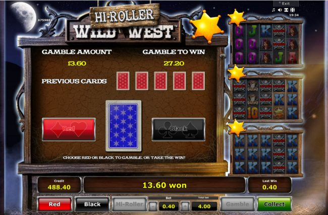 Quasar featuring the Video Slots Wild West with a maximum payout of $200