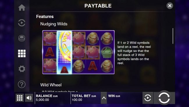 Casinia featuring the Video Slots Wild Wheel Big Money with a maximum payout of $60,000