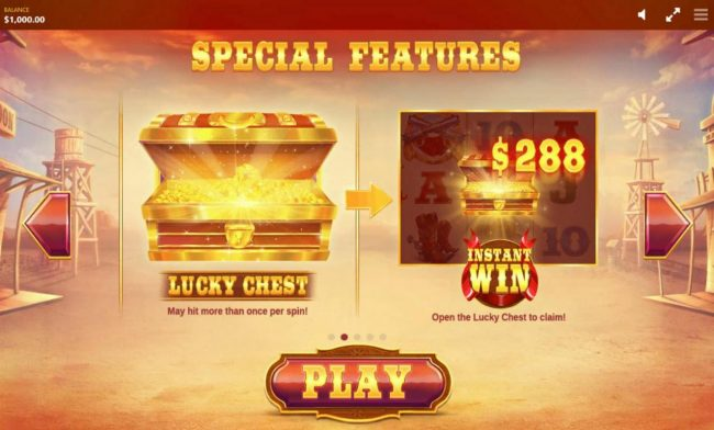 Johnny Jackpot featuring the Video Slots Wild Wild Chest with a maximum payout of $50,000