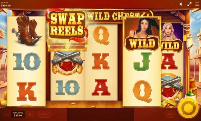 Wild Wild Chest :: Swap Reels feature activated