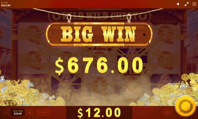 Wild Wild Chest :: Player is awarded a 676.00 jackpot prize.