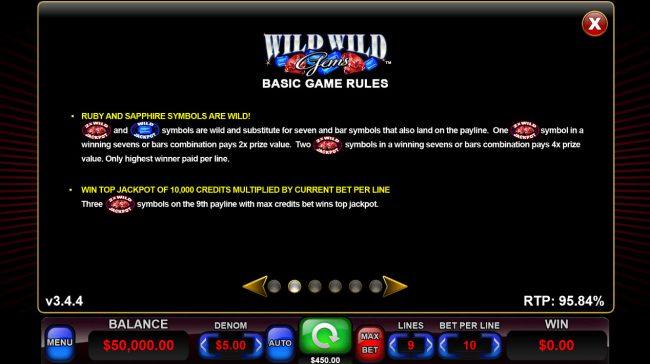 Wild Wild Gems :: Wild Symbol Rules