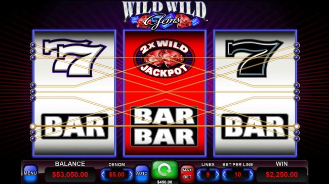 Wild Wild Gems :: A pair of winning paylines