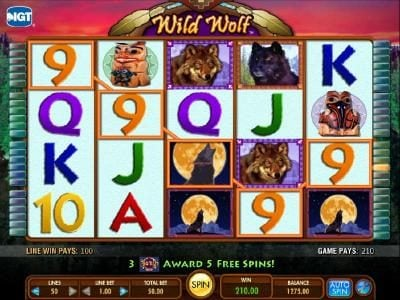 Mr Green featuring the Video Slots Wild  Wolf with a maximum payout of $250,000