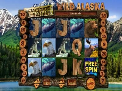 Winaday featuring the Video Slots Wild Alaska with a maximum payout of $750