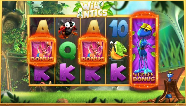 Moon Games featuring the Video Slots Wild Antics with a maximum payout of $12,500