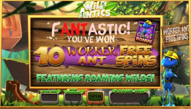 Wicked Jackpots featuring the Video Slots Wild Antics with a maximum payout of $12,500
