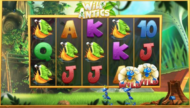 Play Club Casino featuring the Video Slots Wild Antics with a maximum payout of $12,500