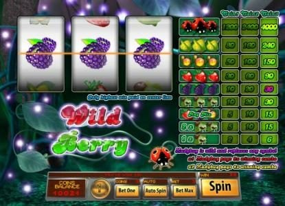 Play slots at Mandarin: Mandarin featuring the Video Slots Wild Berry 3 Reels with a maximum payout of $4,000