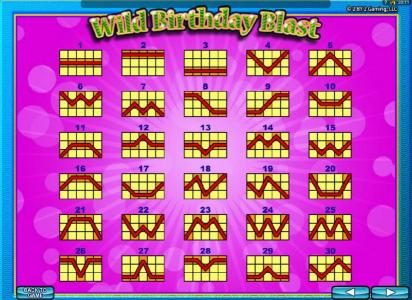 Dream Vegas featuring the Video Slots Wild Birthday Blast with a maximum payout of $2,500