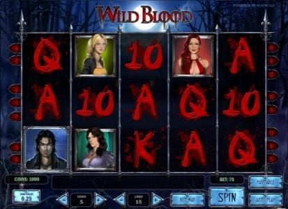 Bet At Casino featuring the Video Slots Wild Blood with a maximum payout of $625