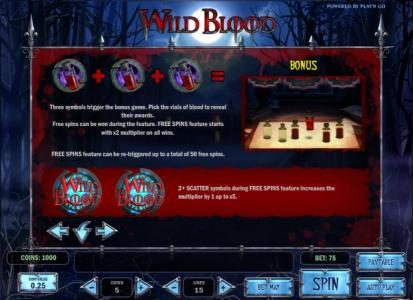 Play slots at Crazy vegas: Crazy vegas featuring the Video Slots Wild Blood with a maximum payout of $625