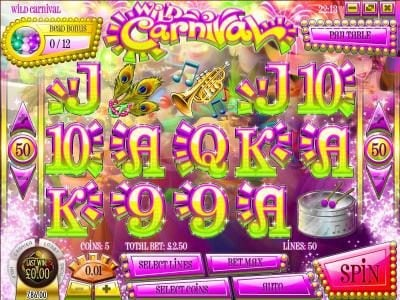 This Is Vegas featuring the Video Slots Wild Carnival with a maximum payout of $17,500