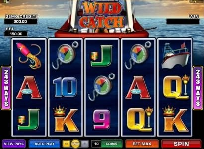 Play slots at Aztec Ritces: Aztec Ritces featuring the Video Slots Wild Catch with a maximum payout of $7,500