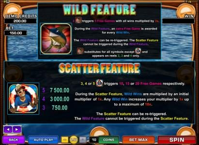 All Jackpots featuring the Video Slots Wild Catch with a maximum payout of $7,500