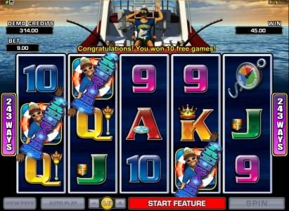 Play slots at Grand Hotel: Grand Hotel featuring the Video Slots Wild Catch with a maximum payout of $7,500