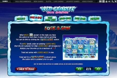 Casino.com featuring the Video Slots Wild Gambler Artic Adventure with a maximum payout of $10,000