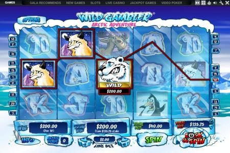 Royal Dice featuring the Video Slots Wild Gambler Artic Adventure with a maximum payout of $10,000