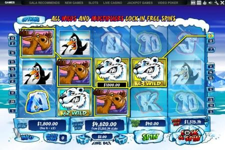 with lock and spin feature enabled a large jackpot is triggered - $4,620