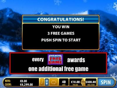 3 free games awarded