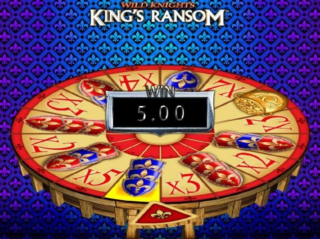Wild Knights King's Ransom :: Spin the wheel to win a prize award.
