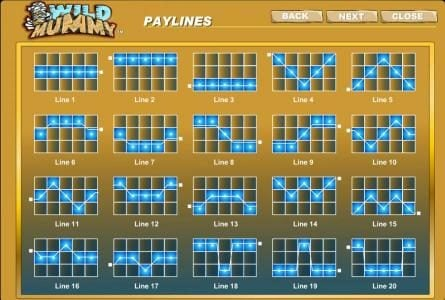 Play slots at Casino Superlines: Casino Superlines featuring the Video Slots Wild Mummy with a maximum payout of $125,000