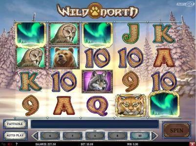 Three scatter symbols triggers bonus game