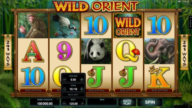 Ruby Fortune featuring the Video Slots Wild Orient with a maximum payout of $60,000