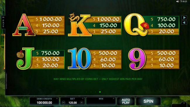 Players Palace featuring the Video Slots Wild Orient with a maximum payout of $60,000
