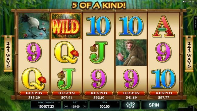 Lucky Nugget featuring the Video Slots Wild Orient with a maximum payout of $60,000