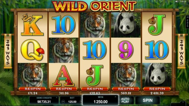 Playamo featuring the Video Slots Wild Orient with a maximum payout of $60,000