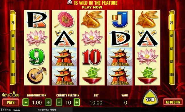 Play slots at Kerching: Kerching featuring the Video Slots Wild Panda with a maximum payout of $2,000