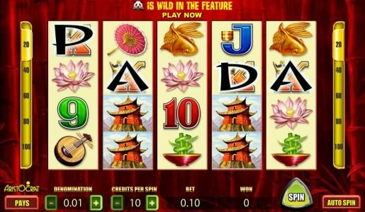 Play slots at Jackie Jackpot: Jackie Jackpot featuring the Video Slots Wild Panda with a maximum payout of 2000x