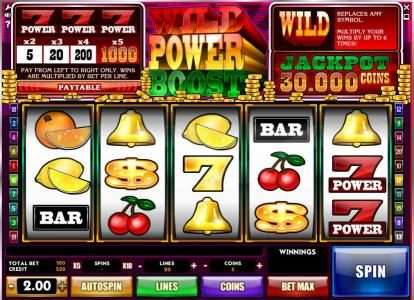 Play slots at Bet Shah: Bet Shah featuring the Video Slots Wild Power Boost with a maximum payout of $300,000