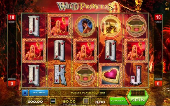 Play slots at emu Casino: emu Casino featuring the Video Slots Wild Princess with a maximum payout of $12,500