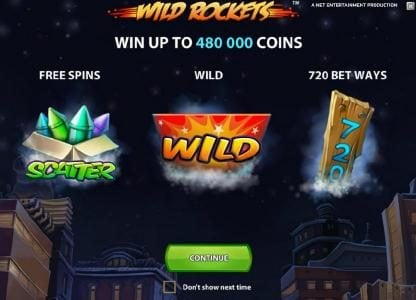 Wild Rockets :: win up to 480000 coins, free spins, wild and 720 bet ways