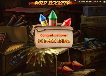 Wild Rockets :: 10 free spins awarded
