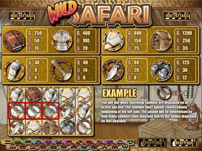 Box24 featuring the Video Slots Wild Safari with a maximum payout of $12,500