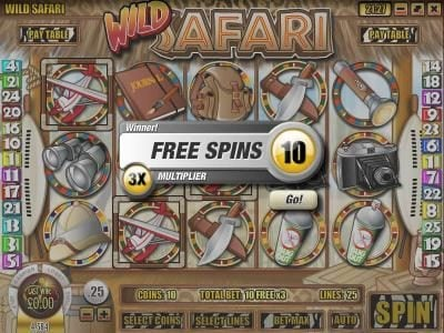 Casino Royal Club featuring the Video Slots Wild Safari with a maximum payout of $12,500