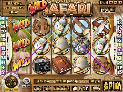 CoCoa featuring the Video Slots Wild Safari with a maximum payout of $12,500