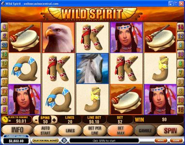 Play slots at William Hill Casino Club: William Hill Casino Club featuring the Video Slots Wild Spirit with a maximum payout of $250,000