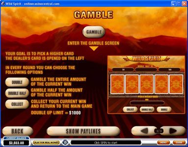 Play slots at African Palace: African Palace featuring the Video Slots Wild Spirit with a maximum payout of $250,000