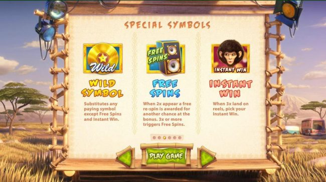 Wild Stars :: Wild, Free Spins and Instant Win symbols rules.