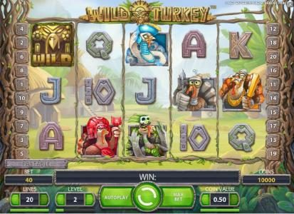 Slot Planet featuring the Video Slots Wild Turkey with a maximum payout of $20,000