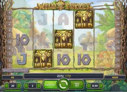 Roy Richie featuring the Video Slots Wild Turkey with a maximum payout of $20,000