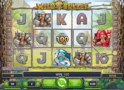 Joy Casino featuring the Video Slots Wild Turkey with a maximum payout of $20,000