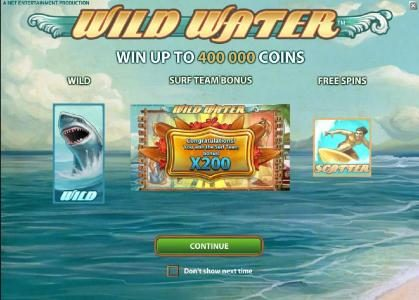 Play slots at 6 Black: 6 Black featuring the Video Slots Wild Water with a maximum payout of $0