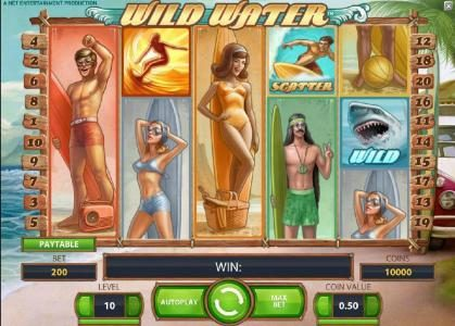 TheBesCasino featuring the Video Slots Wild Water with a maximum payout of $0