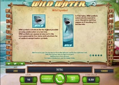 7Bit featuring the Video Slots Wild Water with a maximum payout of $0