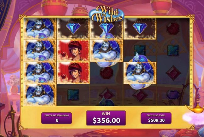 Betfred featuring the Video Slots Wild Wishes with a maximum payout of $4,500